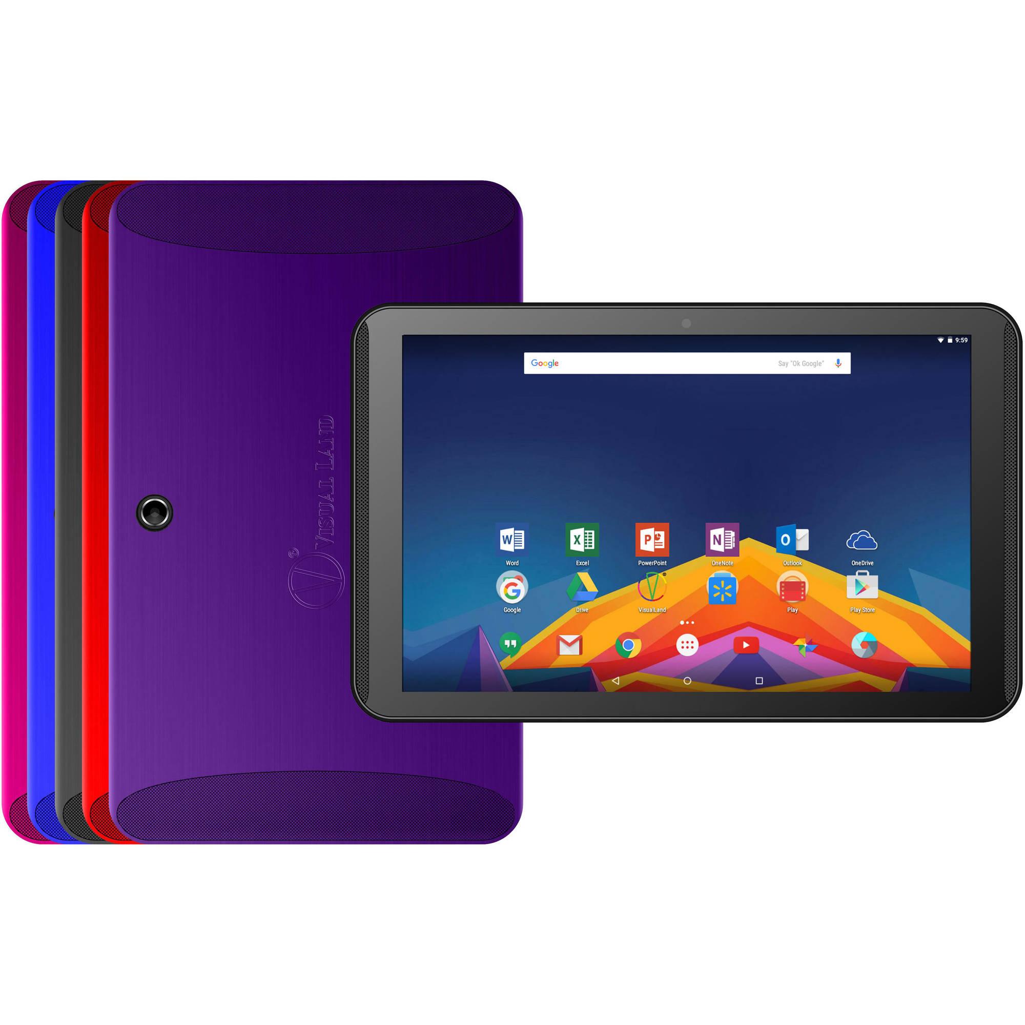 "Visual Land Prestige 10.1"" 64 Bit Octacore Android Marshmallow 16GB w/ Microsoft Office Apps Included"