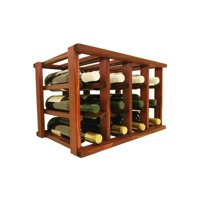 Wine Cellar Innovations  Mini-Stack Series Classic Mahogany Stain Stackable 12-bottle Wine Rack