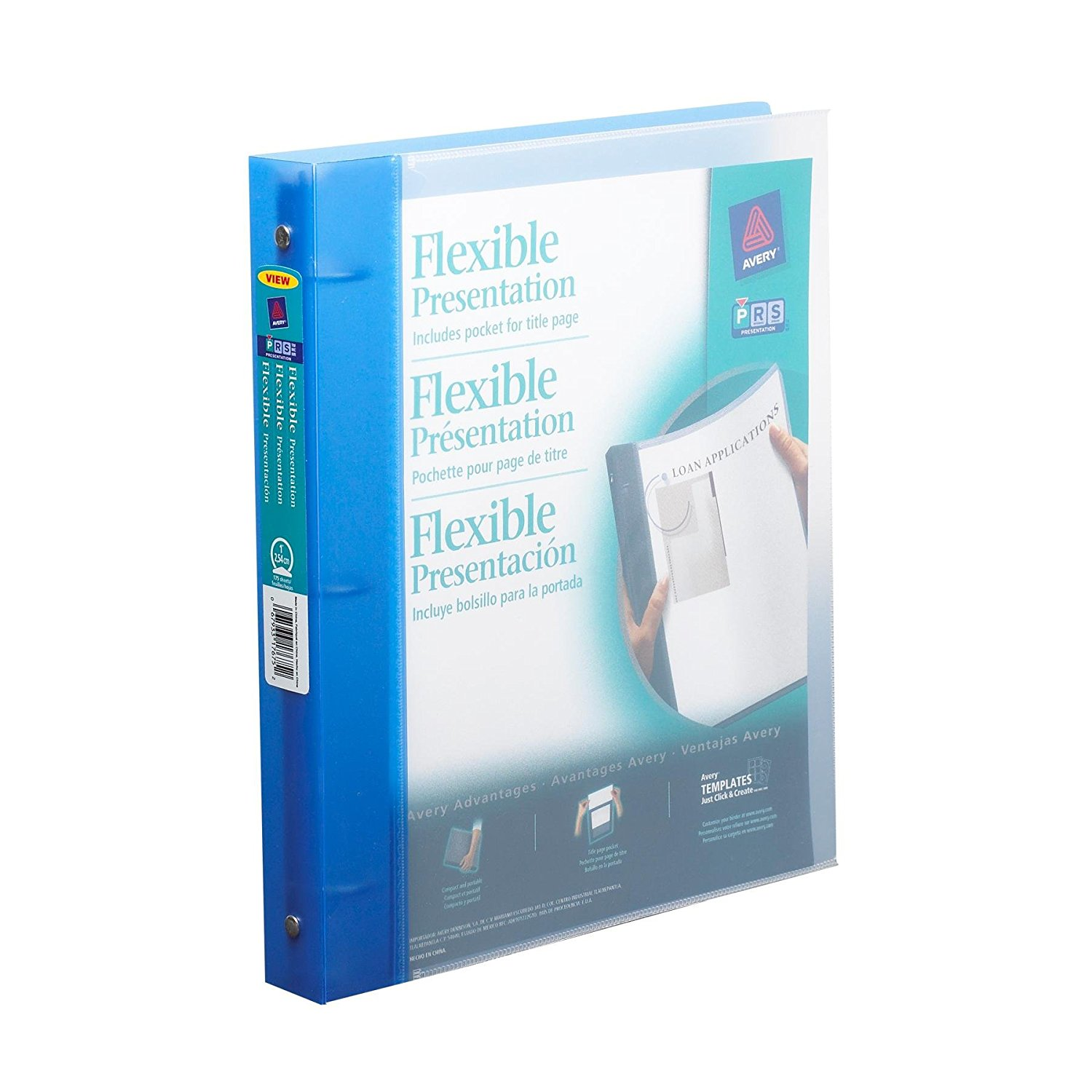 Flexible Binder With 1-Inch Round Ring, Holds 8.5 X 11