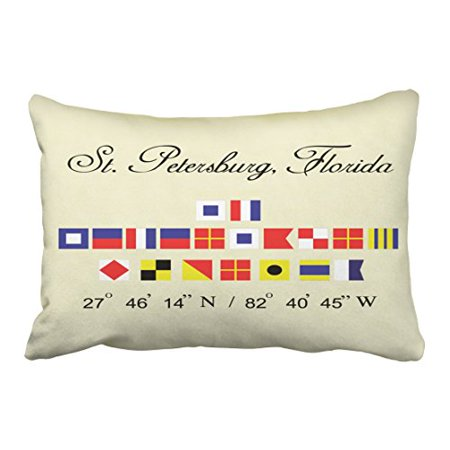 Pleasing Winhome Rectangl Throw Pillow Covers St Petersburg Florida Nautical Flag Pillowcases Polyester 20 X 30 Inch With Hidden Zipper Home Sofa Cushion Dailytribune Chair Design For Home Dailytribuneorg