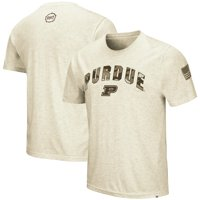 Purdue Boilermakers Colosseum OHT Military Appreciation Desert Camo T-Shirt - Heathered Oatmeal