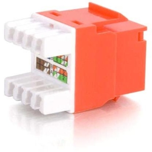 C2G Cat5E RJ45 UTP Keystone Jack - Red