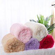 """Solid Reversible Shaggy Faux Fur Blanket Queen Size w/ White Plush Berber Reverse for Couch Bed,78"""" x 90"""",Fuchsia"""