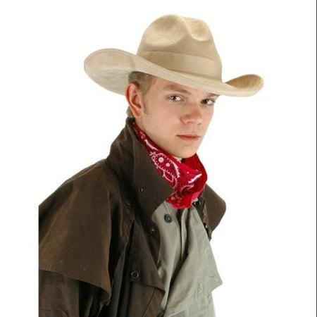 Cowboy Gambler Beige Costume Hat (Gambler Costume)