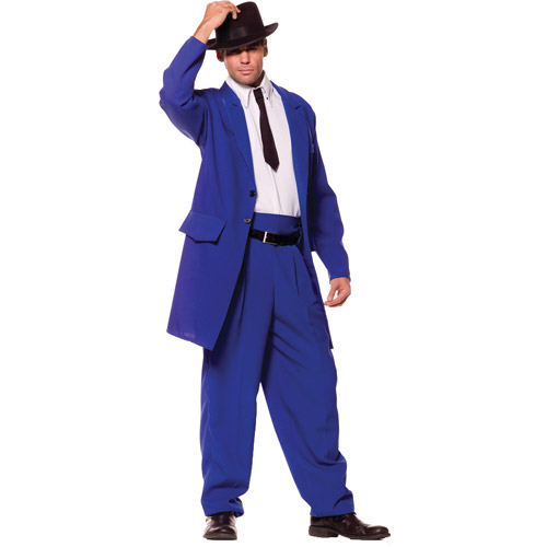Blue Zoot Suit Adult Halloween Costume, Size: Men's - One Size