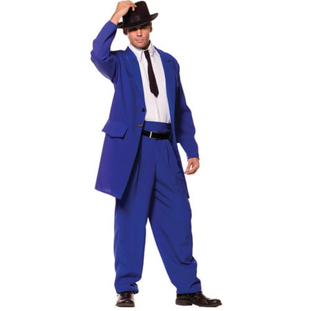 White Zoot Suit Costume (Blue Zoot Suit Adult Halloween Costume, Size: Men's - One)