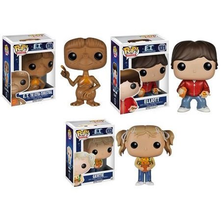 Funko E.T. The Extra Terrestrail 3.75 POP FIGURE SET WITH E.T. - GERTIE & ELLIOT