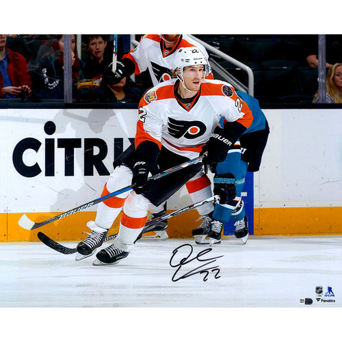 "Dale Weise Philadelphia Flyers Autographed 16"" x 20"" White Jersey Skating Photograph No Size by Fanatics Authentic"