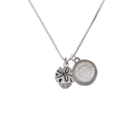 Sand Dollar Spinner - Snowflakes are Kisses Necklace (Real Silver Dollars)