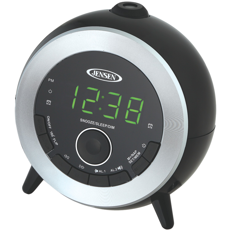 Jensen Jcr-225 Dual Alarm Projection Clock Radio by Jensen