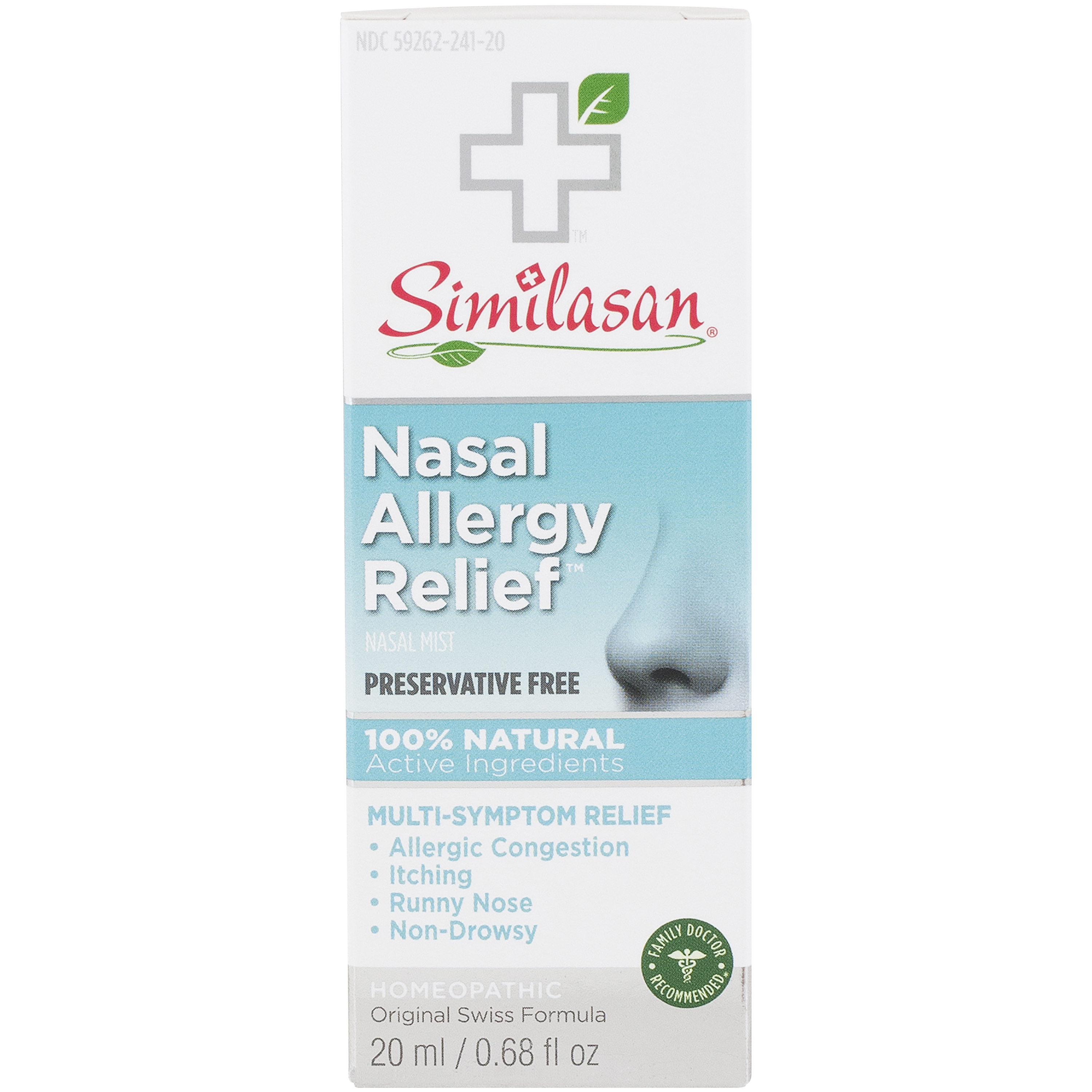 Similasan Nasal Allergy Relief Nasal Spray Preservative Free .68 fl oz