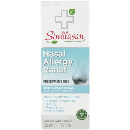 Similasan Nasal Allergy Relief Nasal Spray Preservative Free .68 fl