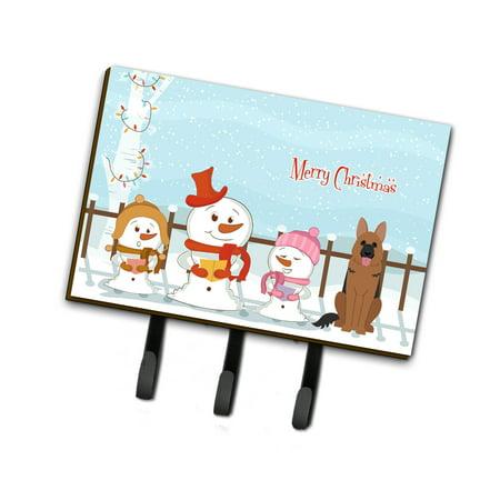 Merry Christmas Carolers German Shepherd Leash or Key Holder BB2398TH68 (Christmas Carolers Decorations Sale)