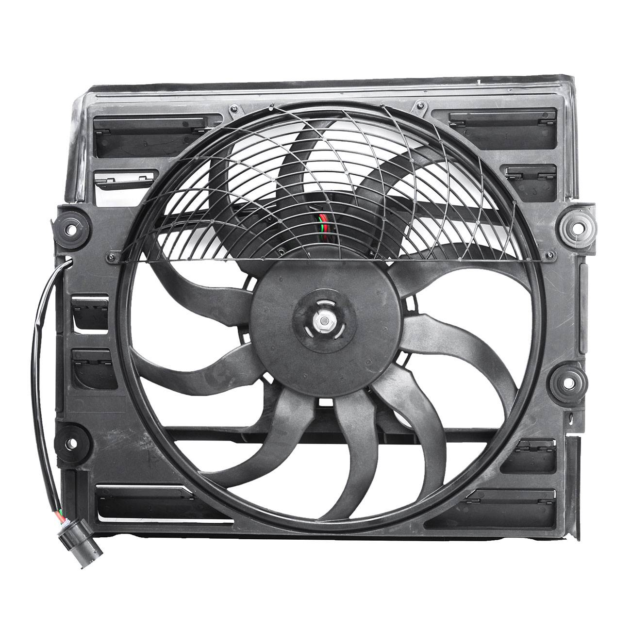 Bapmic 64546921383 A//C Condenser Brushless Cooling Fan Assembly for BMW 7 Series E38 Z8