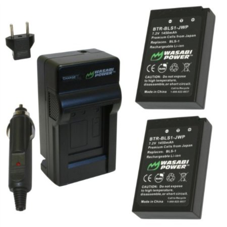 Wasabi Power Battery and Charger Kit for Olympus BLS-1, PS-BLS1, E-420, E-450, E-600, E-620, PEN E-P1, E-P2, E-P3, E-PL1, E-PL3, E-PM1 Camcorder Power Kit