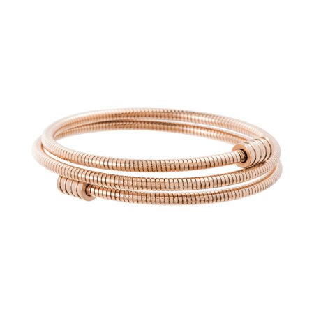 Bypass Bangle (Rose Goldtone Stretch Bypass Bangle in Stainless Steel )
