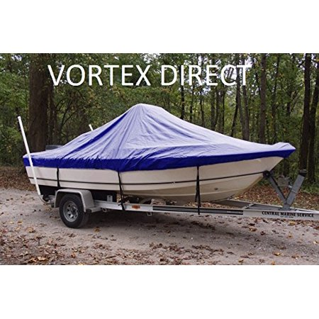 VORTEX HEAVY DUTY BLUE CENTER CONSOLE BOAT COVER FOR 21'7