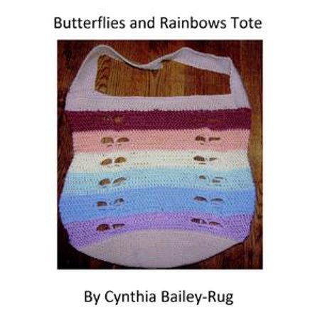 - Butterflies and Rainbows Tote Crochet Pattern - eBook
