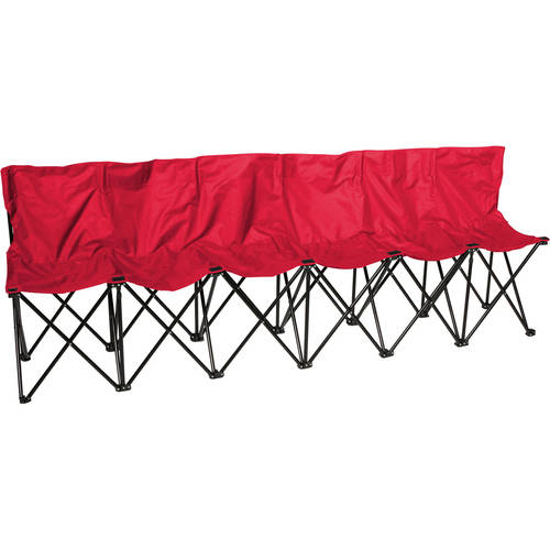 Trademark Innovations 6-Person Folding Sports Sideline Bench with Back
