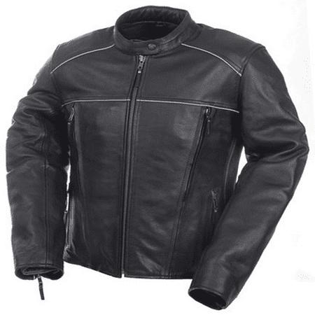 Ladies Black Leather (Camoplast 20-219-12 Womens Premium Leather Jacket Size 12)