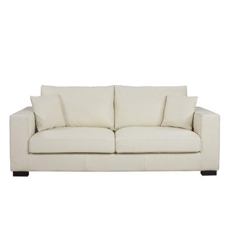 Off White Top Grain Italian Leather Living Room (Italian Leather Living Room)