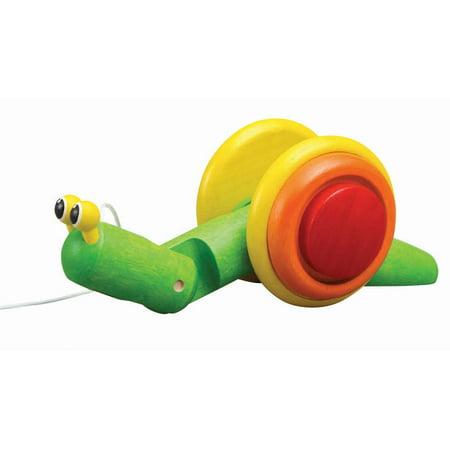 Snail Pull Toy (PlanToys Snail Pull-Along Toyl)