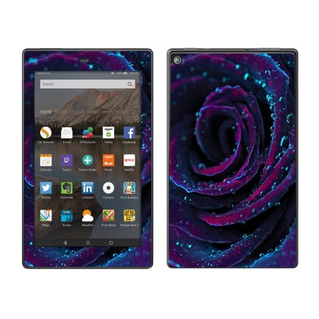 Skins Decals For Amazon Fire Hd 8 Tablet / Purple Rose Pedals Water Drops (Drop Ship With Amazon)