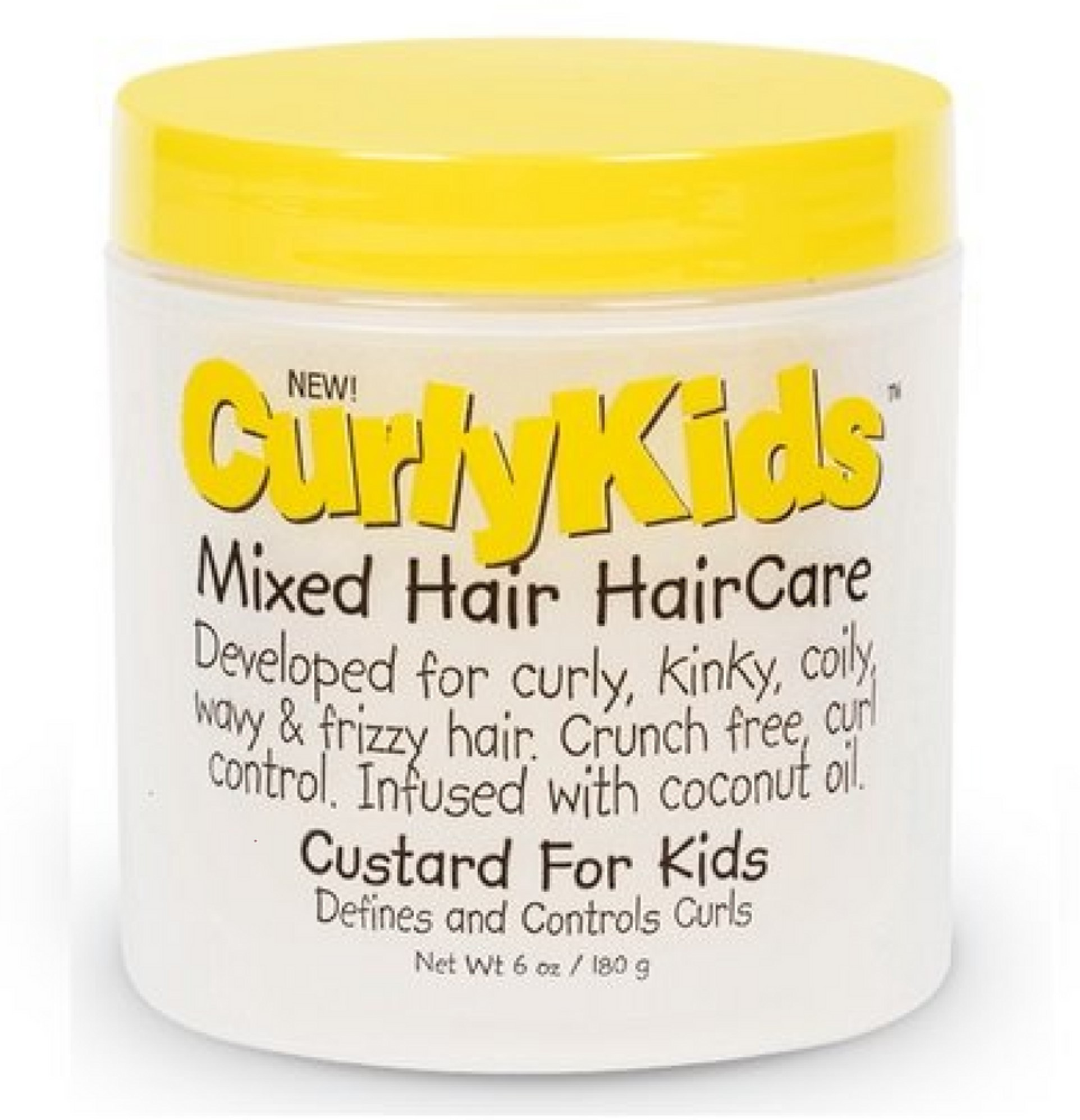 6 Pack - Curly Kids Mixed Hair Haircare Custard for Kids 6 oz
