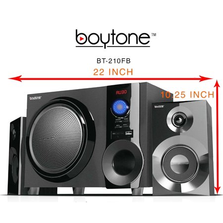 1909 Pa (Boytone Bt210f Black 2.1 Multimedia Speaker System With )