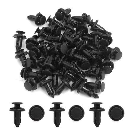 50Pcs Black Plastic Rivet Fastener Mud Flaps Bumper Fender Clips 8mm for Car - image 1 of 2