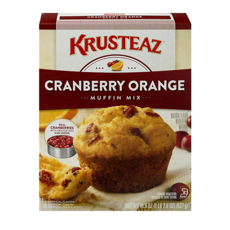 (5 Pack) Krusteaz Supreme Muffin Mix, Cranberry Orange, 18.6oz Box