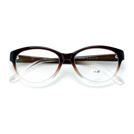 Women Cateye No Line Progressive Trifocal Clear Lens Reading Glasses - Better Then Bi-Focal bifocal (Bifocal Reading Glasses Target)