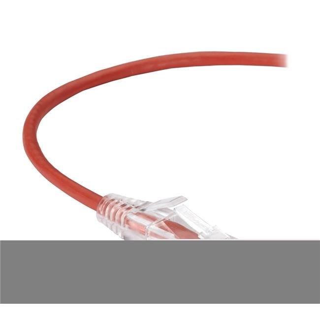 Black Box C6APC28-RD-15 Slim-Net CAT6A Patch Cable Red Pack of 15 pcs 15