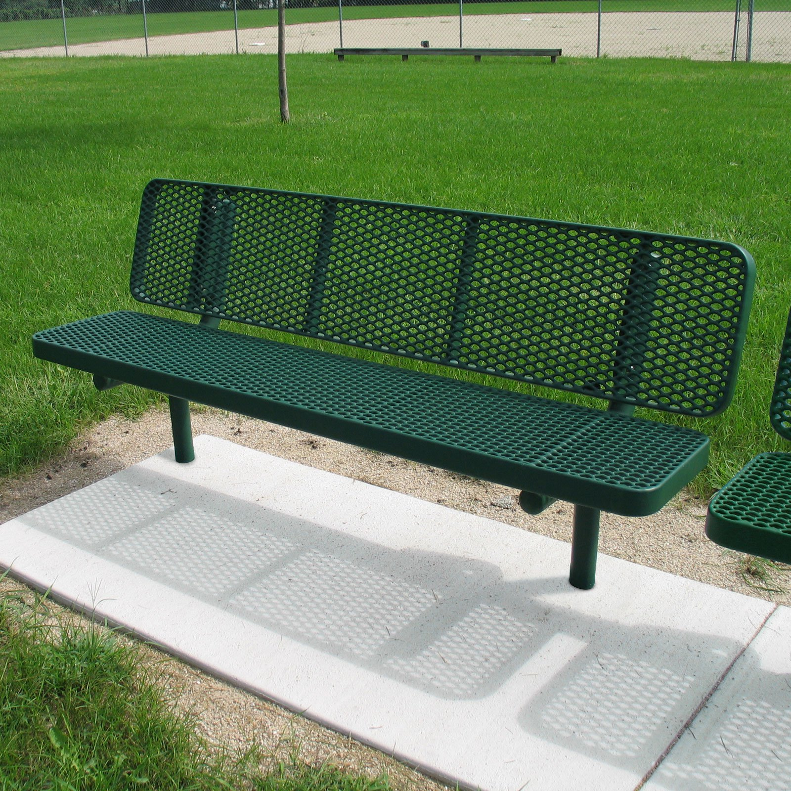 Premier Polysteel Commercial Champion Supreme Inground Park Bench by