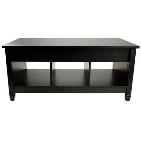 Trademark Innovations 41 Lift Top Coffee Table Black Finish