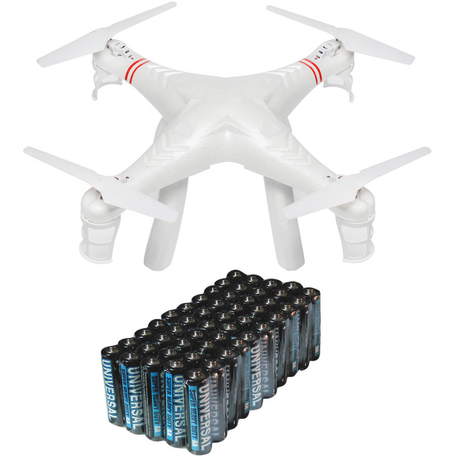 Cobra RC Toys 908728 2.4GHz UFO Drone Quad with HD Video Camera and Super Heavy-Duty Battery Value Box