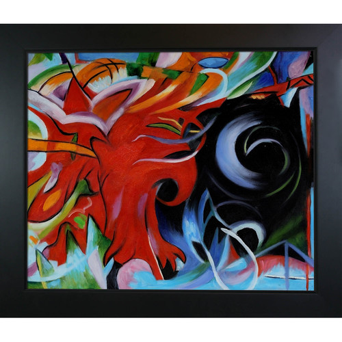 Tori Home Marc Fighting Forms Framed Original Painting