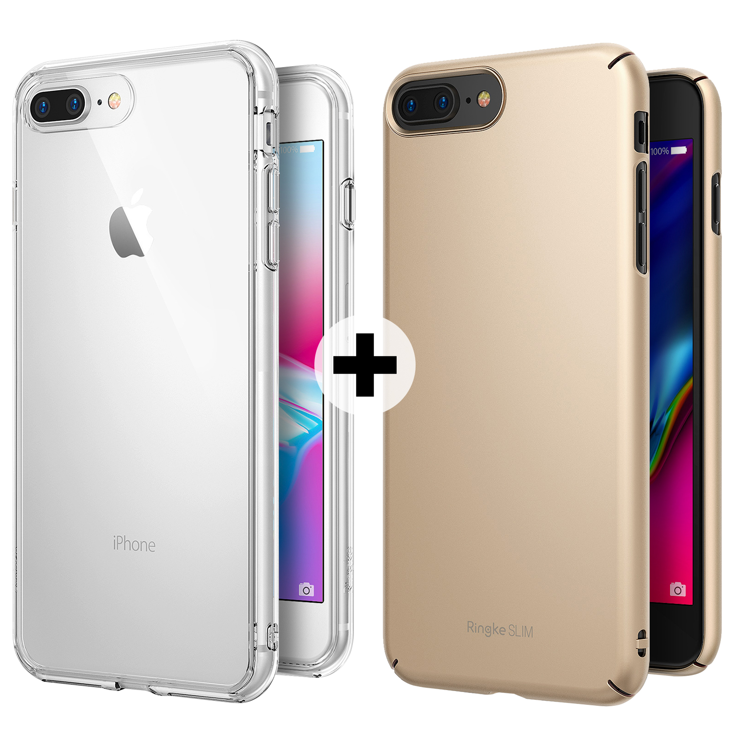 Apple Iphone 7 Plus 8 Phone Case Ringke Fusion Crystal Rearth Slim Royal Gold Clear Transparent Pc Back Tpu Bumper Drop Protection Scratch Resistant Protective Cover