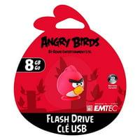 emtec angry birds 8gb flash drive usb memory portable key chain strap pc red ekmmd8ga100
