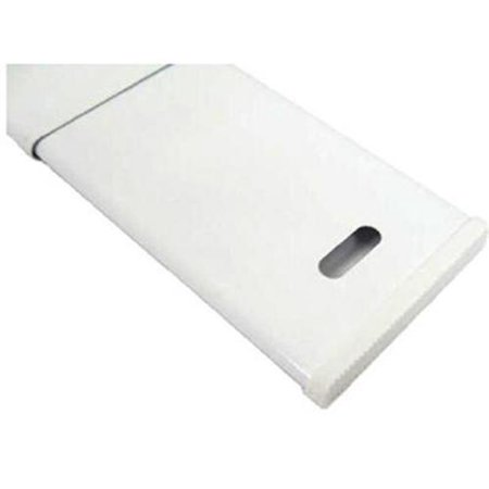 Drapery Hardware A7004213265 Tension Curtain Rod Wide Pocket White 28 47 In