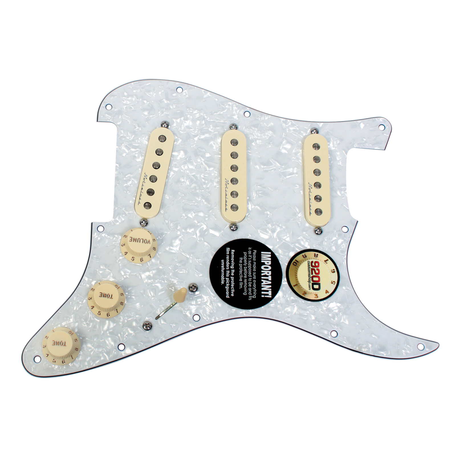 Fender Jeff Beck Hot Noiseless Loaded Pickguard White Pearl / Aged White