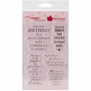 Woodware Clear Stamp Set, Delightful Verse