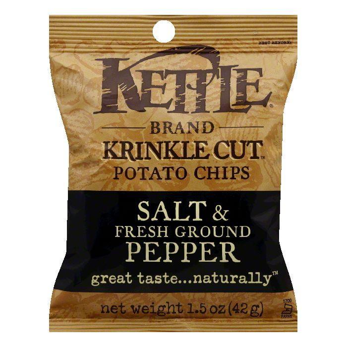 Kettle Brand Sea Salt and Pepper Potato Chips, 1.5 OZ (Pack of 24)