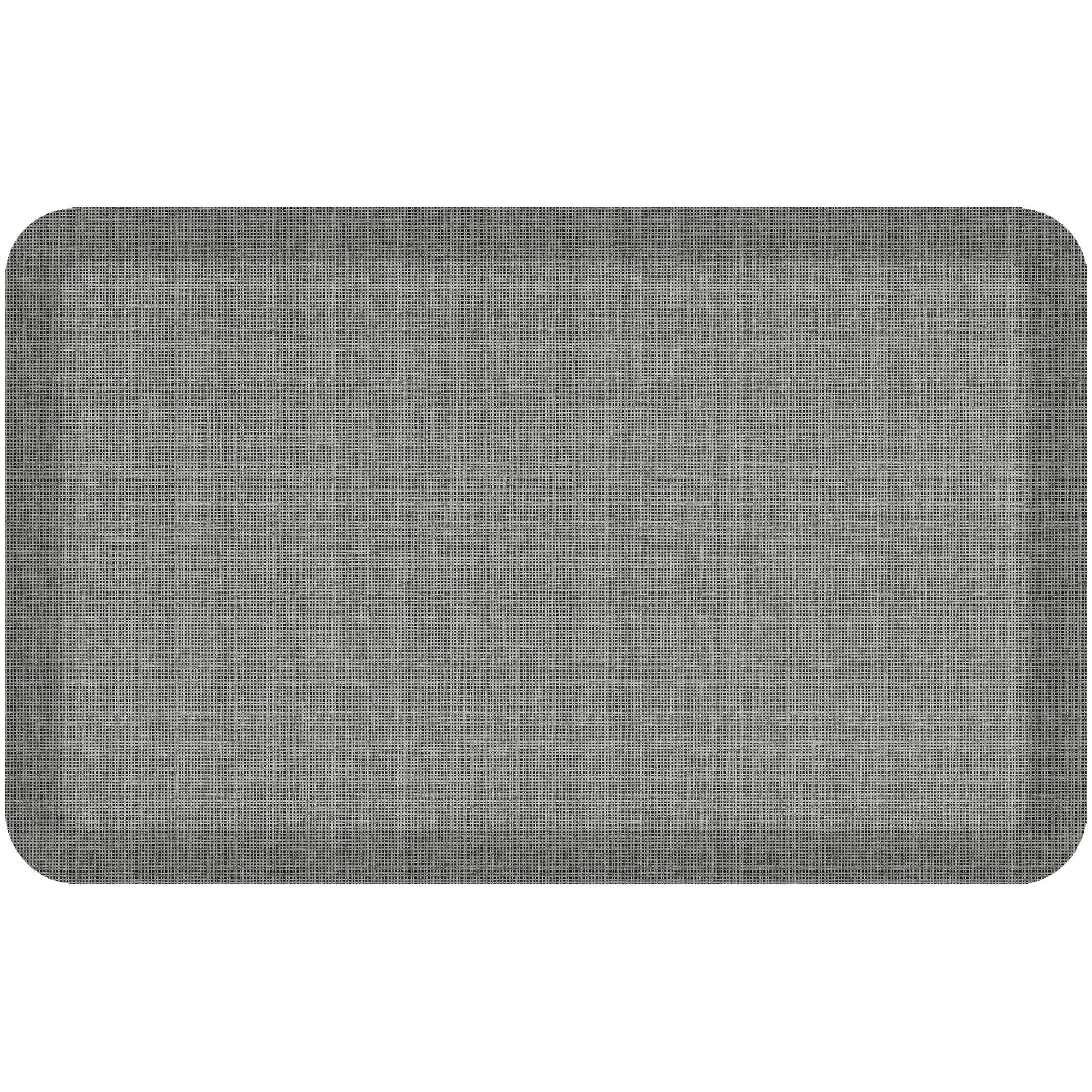 NewLife by GelPro Designer Comfort Kitchen Floor Mat 20x32 Tweed Antique White