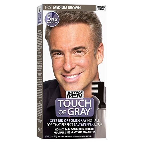 5 Pack - JUST FOR MEN Touch of Gray Hair Treatment T-35 Medium Brown, 1 Each