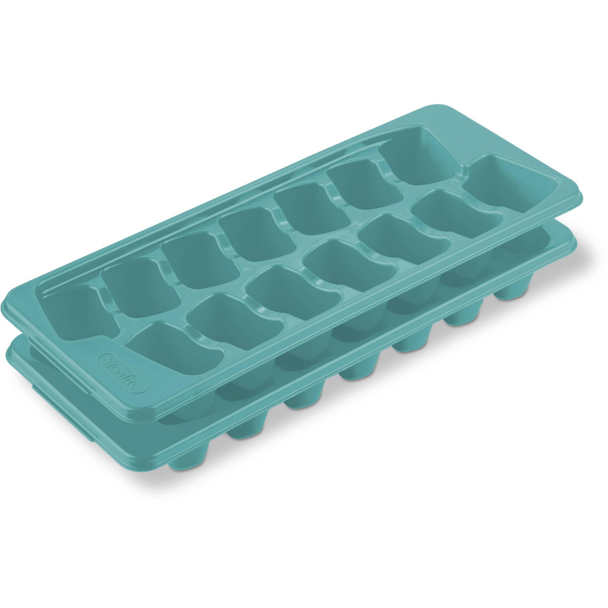 Sterilite Mainstays Ice Cube Trays, Blue Atoll, Set of 2