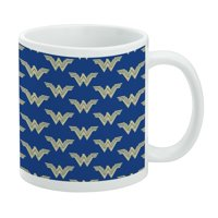 Wonder Woman Movie Blue Logo Pattern White Mug