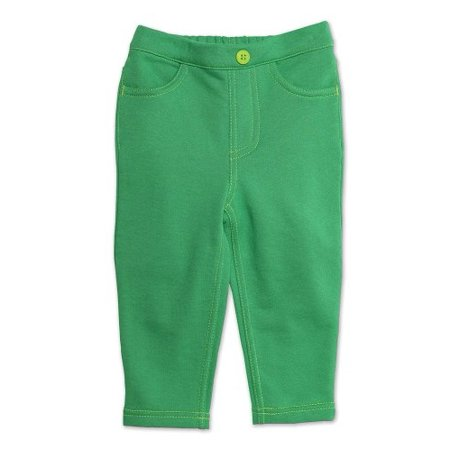 Zutano Baby Girls' Terry Matchstick Jean, Apple, 24