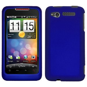 Rubberized Blue Snap - Rubberized Protector Hard Shell Snap On Case for Verizon HTC Merge, HTC Merge - Blue