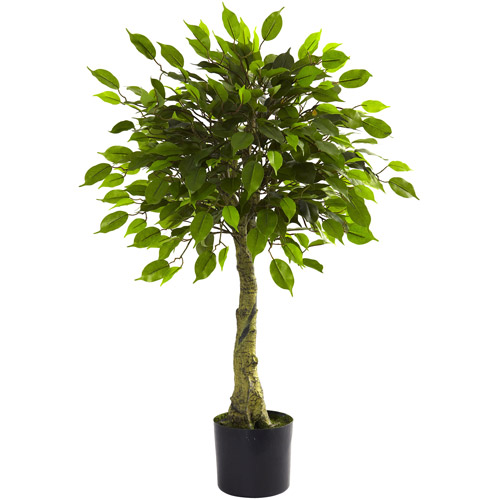 Nearly Natural 3' Ficus Tree, UV Resistant, Indoor and Outdoor